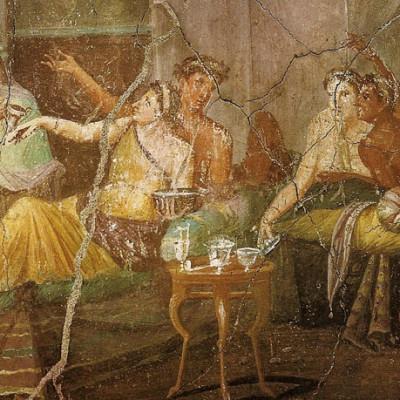 banchetto di antichi romani